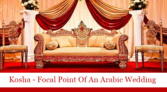 Kosha the focal point of an arabic wedding decor junglespirit Choice Image